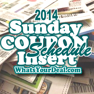Sunday Insert Coupons Schedule 2015