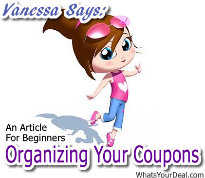 Vanessa Says Organizing Your coupons