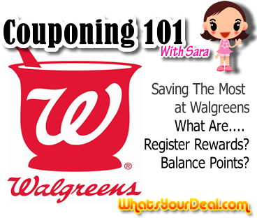 walgreens couponing how to explains register rewards and balance points