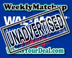 Walmart Unadvertised Deals