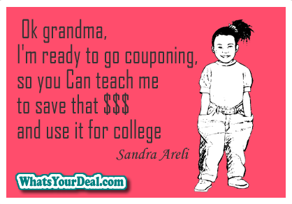 collegemoney couponing meme by Sandra Areli