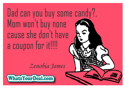 nocoupon no candy meme by Zenobia James