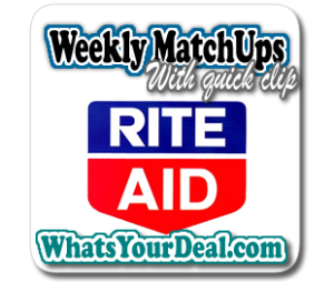 Rite Aid Weekly match Ups