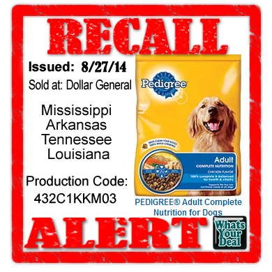 Is Pedigree Dog Food Recalled