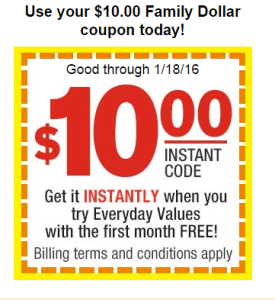 Only ONE Manufacturer coupon and ONE Family Dollar coupon can be used per ITEM in a transaction. Limit of 4 identical coupons per household per day, if no limit specified on coupon. No more than Two (2) Phone Numbers (or Unique 10 digit code) per household can be used to set up a Smart Coupon account.