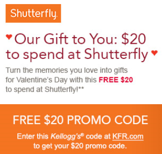 Shutterfly coupon code $20 off