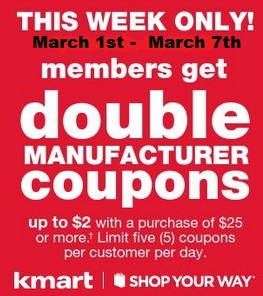 Kmart double coupon days july 2018