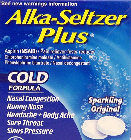 alka seltzer cold plus