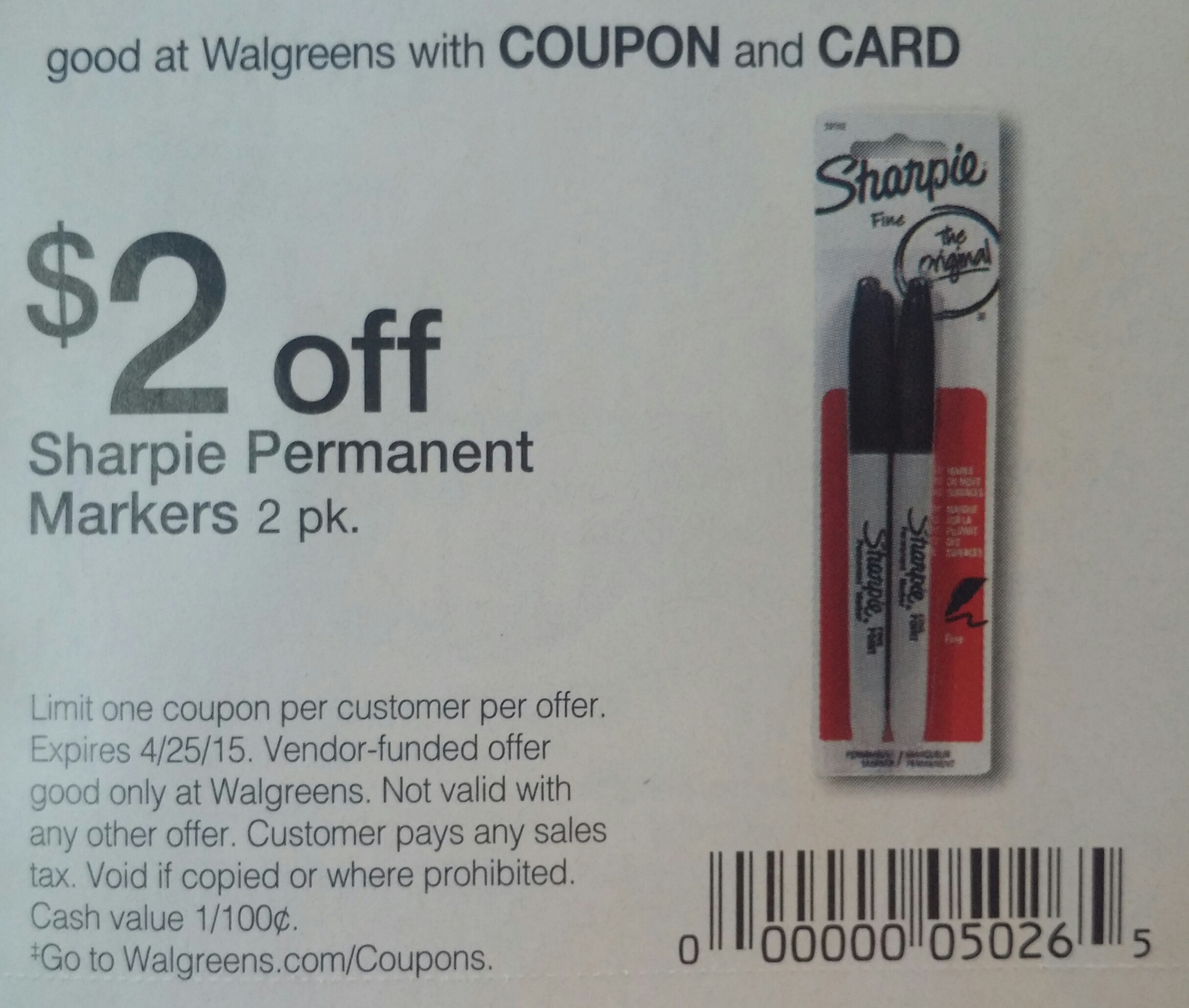 Sharpie coupons 2018