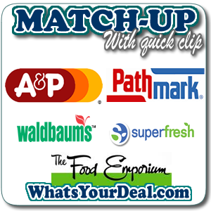 a&p, A&p affiliates, Pathmark, waldbaums, Superfresh, Food emporium, matchup