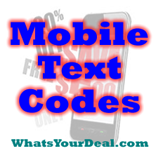 mobile text codes