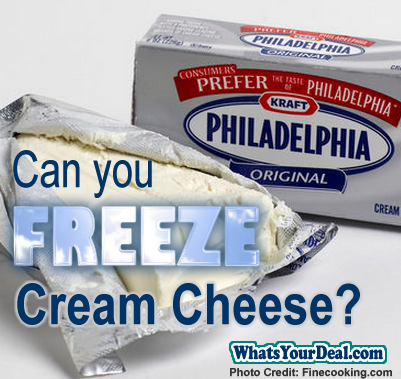 can u freeze cream cheese