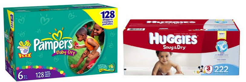 pampers and huggies