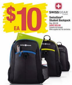 Swiss Gear Backpacks only $10 (reg. $35.99). My kids love these ...