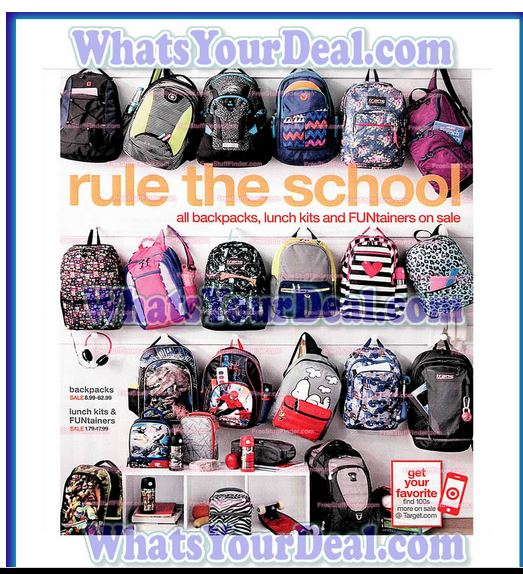 Back to School – Back Packs on Sale @ Target Thru 8/1 – Grocery ...