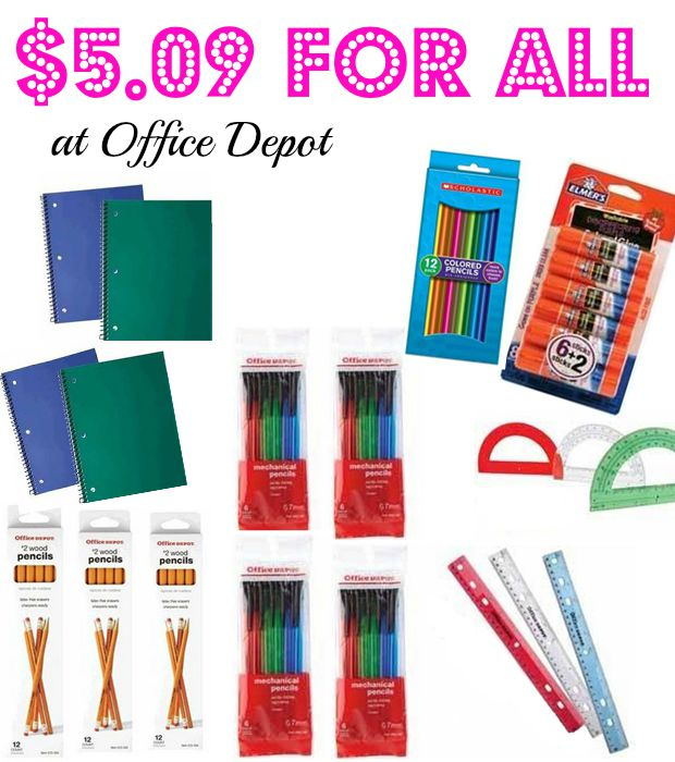 Whoa 19 school supplies for only hot deal at for Office depot shirt printing