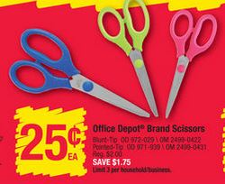 Office Depot Scissors Only 25 Ends 7 18 Grocery