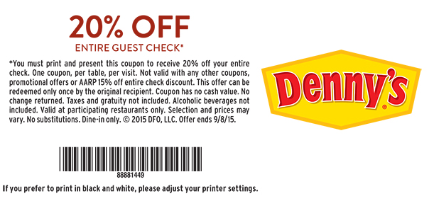 denny's coupon