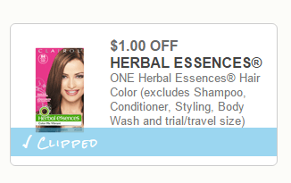 Herbal Essences Hair Color Coupons