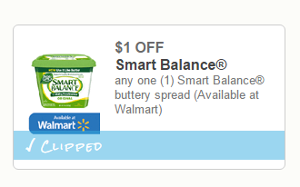 Smart Balance will offer a $ off coupon that can be paired with a store sale and store coupon! 2. The 15oz Smart Balance Buttery Spread retails for $ You can use the $ off coupon to get this tub of butter for just $1! Highlights for Smart Balance.