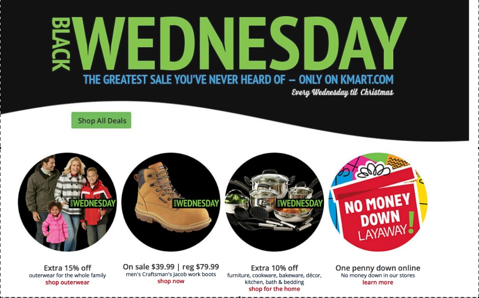 kmart is going to have black wednesday sales every wednesday until christmasdifferent items will be featured every week check out the layaway deal - Kmart After Christmas Sale