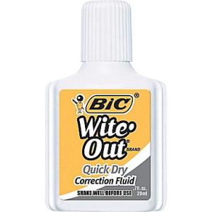 bic white out
