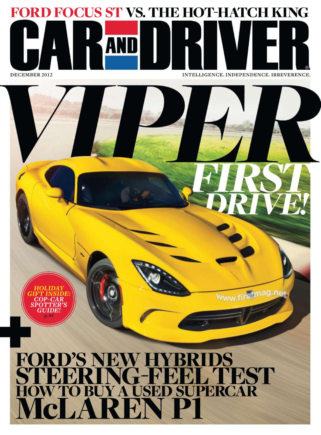 Car Enthusiasts Car Driver Free Subscription Grocery Coupons - Car and driver