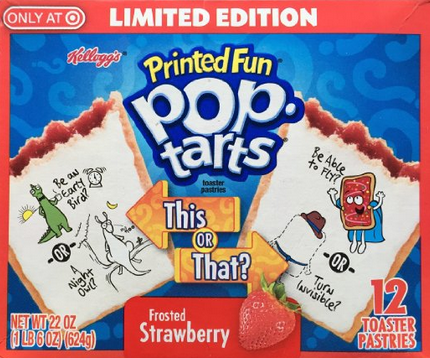 printed fun pop tarts