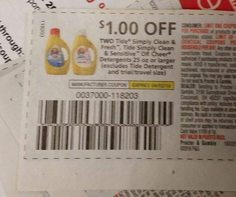 Tide coupon code