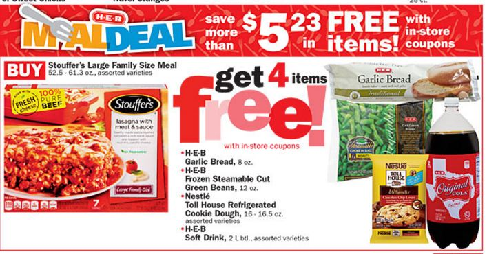 HEB Deals This Week. HEB has 5 for $5 mix-N-match deals again this week — To explain ~ If the symbol located on the right is shown on the items you are buying make sure you have 5 of them so that you can get them for $ ea. Also you are able to mix & match, as long as the symbol is present!! MEAL DEAL BUY ~ H-E-B Fully Cooked Burgers 24 –.