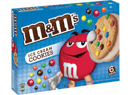M&M Mars Cookie Ice Cream Sandwich
