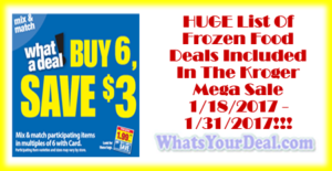 Kroger Mega Frozen Food