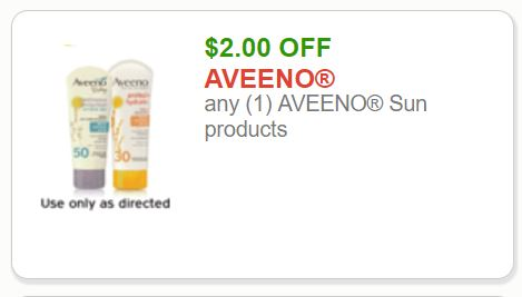 PRINT NOW!!! $2.00 any (1) AVEENO Sun products