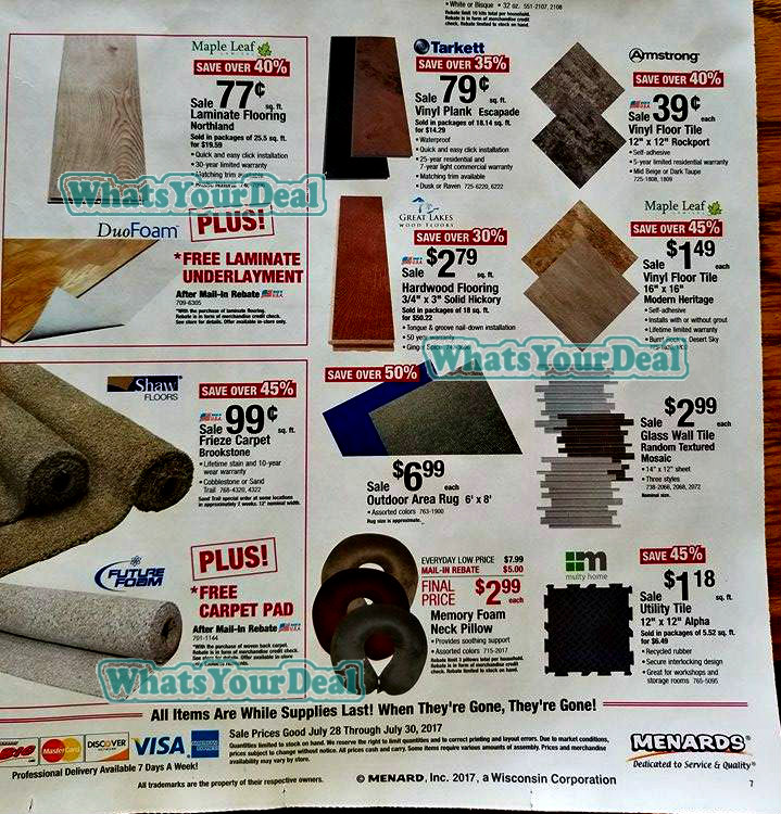 Menards discount coupons